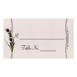 Western Calla Lily Posh Wedding Place Cards Business Cards