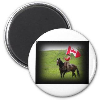 Western Canada 6 Cm Round Magnet