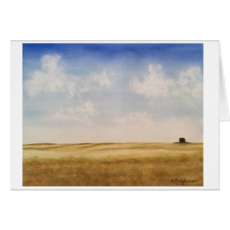 Western Canada Prairies - WATERCOLOR Card