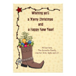 Western Christmas Card Personalized Announcement