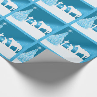 Western Christmas Cowboy Praying Wrapping Paper