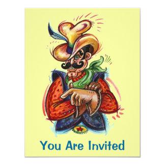 "Western Colorful Fun Cowboy Party Invitations 4.25"" X 5.5"" Invitation Card"