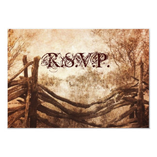western country farm wedding RSVP response Card