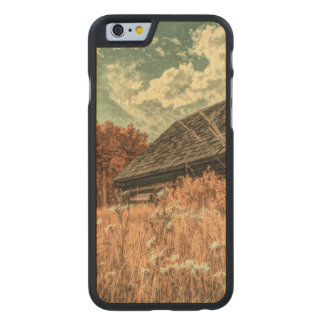 western country field wildflower farm Old Barn Carved Maple iPhone 6 Case