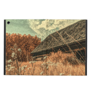 western country field wildflower farm Old Barn Cover For iPad Air