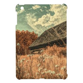 western country field wildflower farm Old Barn iPad Mini Cover