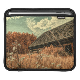 western country field wildflower farm Old Barn iPad Sleeve