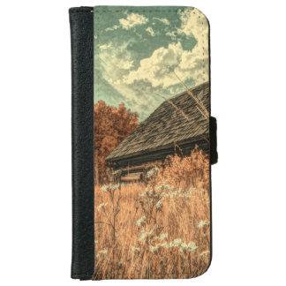 western country field wildflower farm Old Barn iPhone 6 Wallet Case