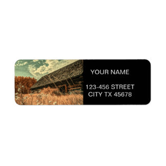 western country field wildflower farm Old Barn Return Address Label