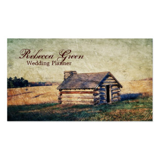 western country mountain cabin wedding pack of standard business cards