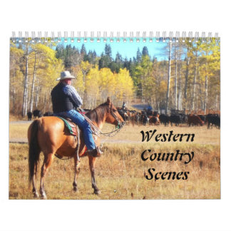 Western Country Scenes Wall Calendars