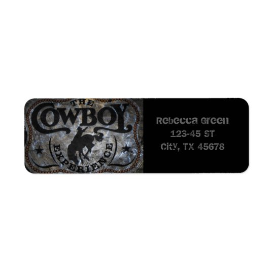 western country Stampede Horse cowboy rodeo Return Address Label