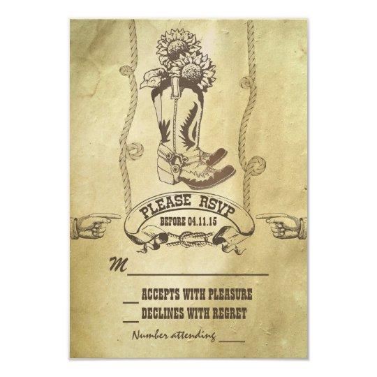 western country wedding RSVP Card