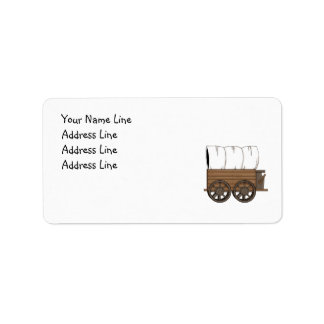 Western Covered Wagon - MED Return Address Address Label