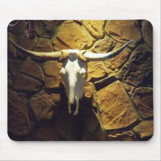 Western Cow Skull Computer Desktop Mouse Pad Art