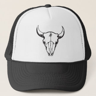 Western Cow Skull Trucker Hat