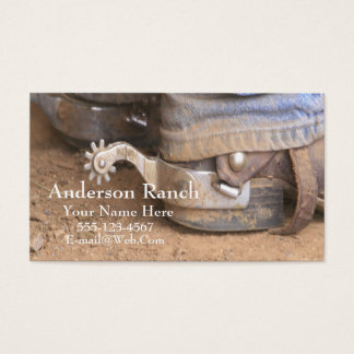 Western Cowboy Boot Spurs Business Card Template