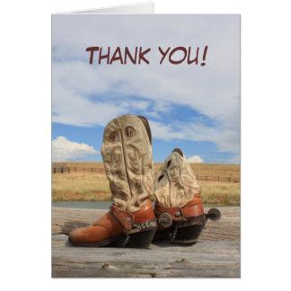 Western Cowboy Boot Thank You Card