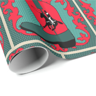 Western Cowboy Boot With Roper Gift Wrapping Paper