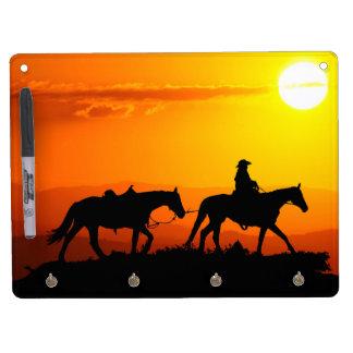 Western cowboy-Cowboy-texas-western-country Dry Erase Board With Key Ring Holder