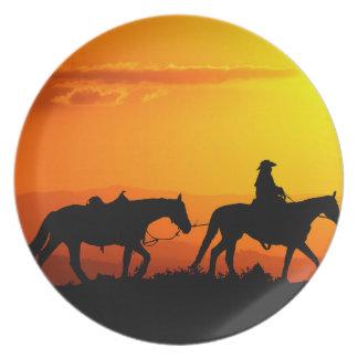 Western cowboy-Cowboy-texas-western-country Plate