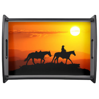 Western cowboy-Cowboy-texas-western-country Serving Tray