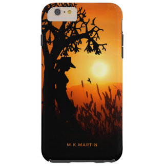 Western Cowgirl Silhouette at Summer Sunset Tough iPhone 6 Plus Case