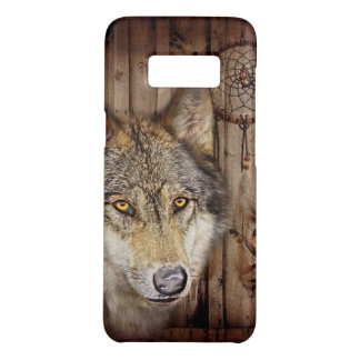 Western dream catcher  native american indian wolf Case-Mate samsung galaxy s8 case