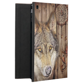 Western dream catcher  native american indian wolf iPad air case
