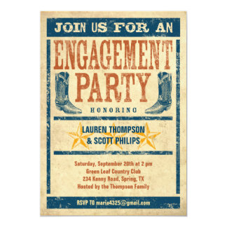Western Engagement Party Invitations