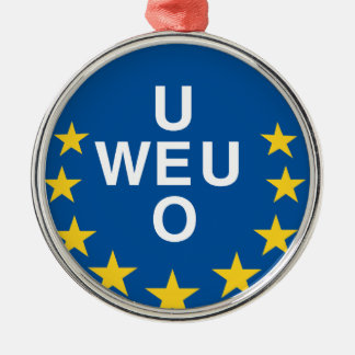 Western European Union Silver-Colored Round Decoration