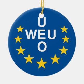 Western European Union Round Ceramic Decoration