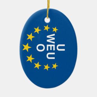 Western European Union Flag Ceramic Oval Decoration