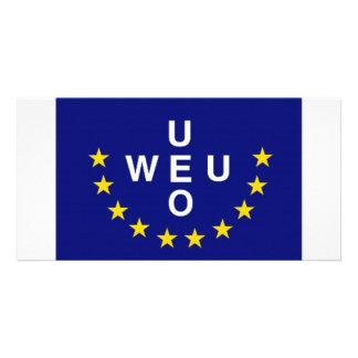 Western European Union Flag Photo Card Template