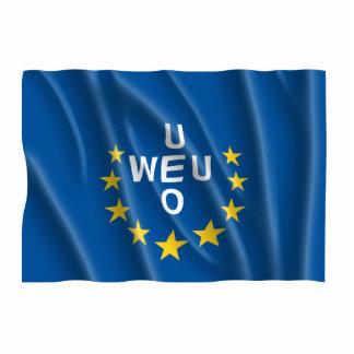 WESTERN EUROPEAN UNION FLAG PHOTO SCULPTURE DECORATION