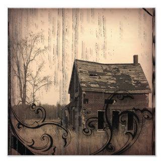 western farmhouse customizable country Wedding Photo Art