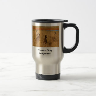Western Grey Kangaroos Stainless Steel Travel Mug