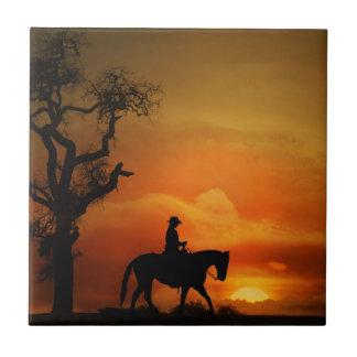 Western Horse Art Tile