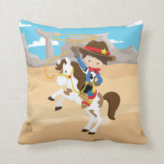 Western Horse Cowboy Desert Lasso Rope Rancher Cushion