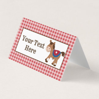 Western Horse Cowboy Party Place Cards
