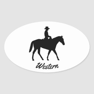 Western Horse Oval Sticker