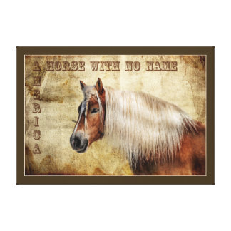WESTERN HORSE WITH NO NAME. AMERICAN INDIAN HORSE CANVAS PRINT