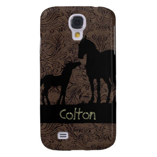 Western Horses Mare Foal 3G/3GS Samsung Galaxy S4 Cases