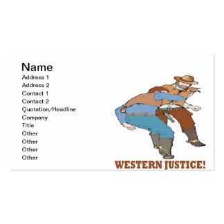 Western Justice Pack Of Standard Business Cards