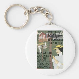 Western Lawn Tennis Tournament 1896 Key Chain