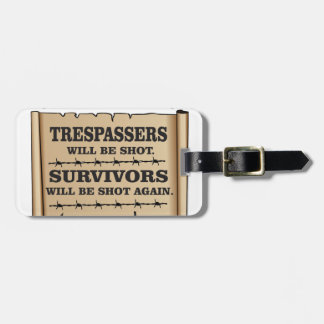 western laws of land luggage tag