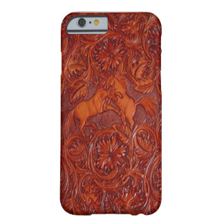 western leather style with mustangs iPhone 6 case Barely There iPhone 6 Case