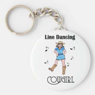 "Western ""Line Dancing Cowgirl"" Key Ring"
