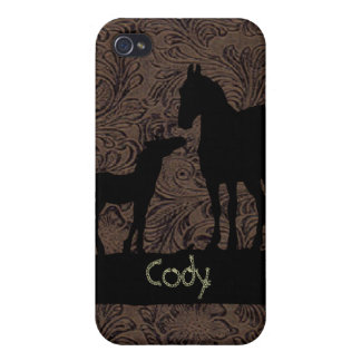 Western Mare Foal Add Name Case iPhone 4 Cover For iPhone 4