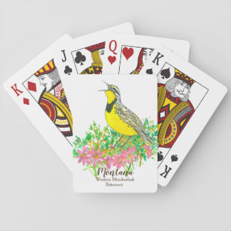 Western Meadowlark Bird Bitterroot Montana Playing Cards